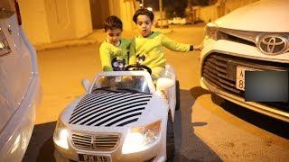 فاجأتهم بالسيارة الجديده !!