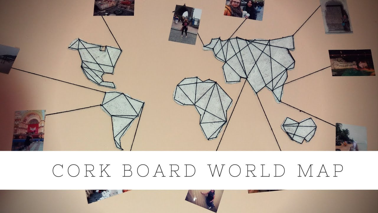 Diy cork board world map travel map youtube diy cork board world map travel map gumiabroncs Gallery