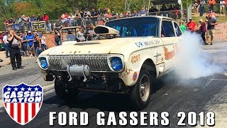 Ford Gassers Compilation 2018 Falcons, Fairlanes, Comets and More!