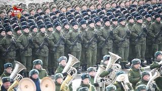 В подмосковном Алабино прошла первая репетиция Парада Победы
