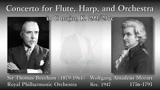 Mozart: Concerto for Flute, Harp, and Orchestra; Laskine & LeRoy (1947) モーツァルト フルートとハープのための協奏曲