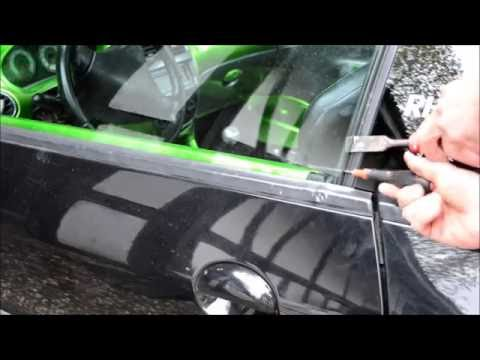 How to open locked car door with keys inside