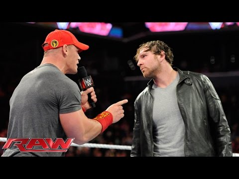 Dean Ambrose and John Cena have a heated war of words: Raw, Oct. 6, 2014