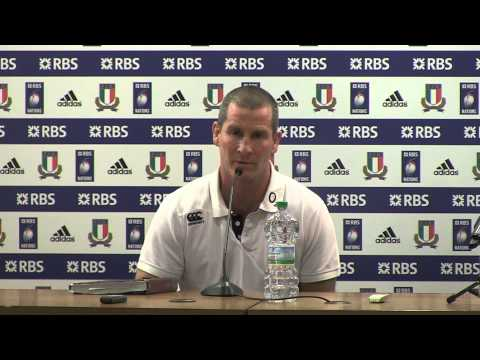 Lancaster and Farrell post Italy v England - 15 3 2014