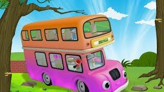 As rodas do ônibus gira gira 🚍 | canção de ônibus | rimas em português | The Wheels On The Bus