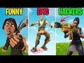 Hacker Unlocks Hidden Gun! FUNNY vs EPIC vs HACKERS - Fortnite Funny Moments