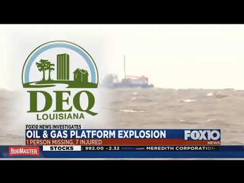 Oil and gas platform explosion