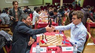 Шахматы. Магнус Карлсен играет позицию с изолированной ферзевой пешкой