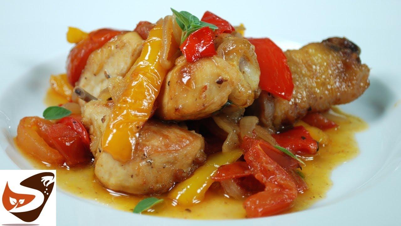 Pollo con peperoni ricetta facile e appetitosa secondi for Piatti di cucina