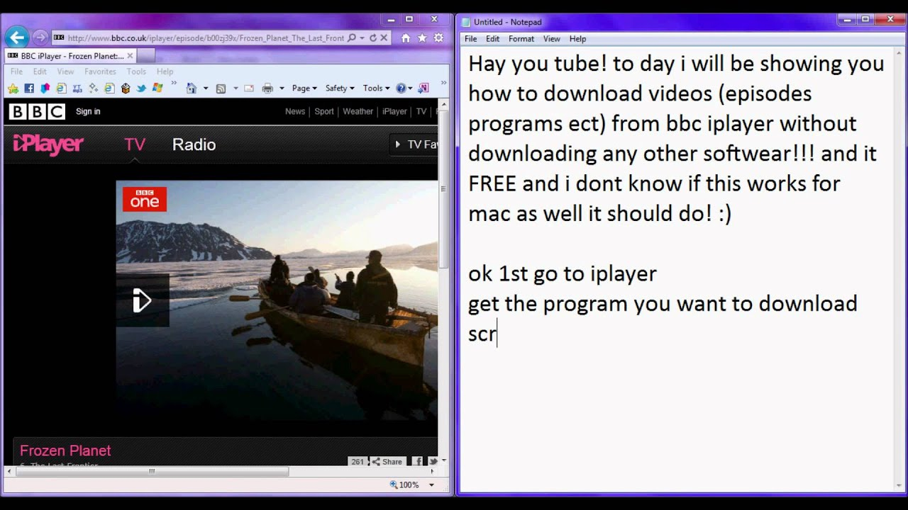 How to download BBC iPlayer videos no other downloads