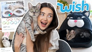 TRYING WEIRD CAT GADGETS FROM WISH! AD