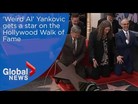 """Weird Al"" Yankovic gets a star on the Hollywood Walk of Fame"