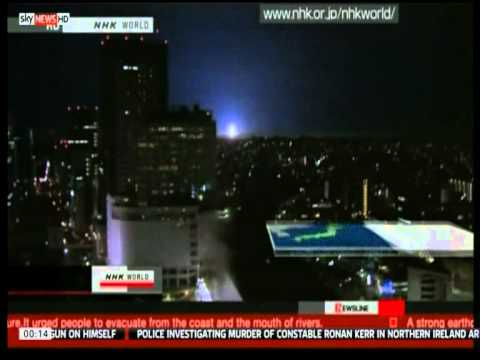 japan earthquake lights