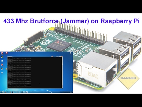433 Mhz Bruteforce (Jammer) on Raspberry Pi (deutsch) - YouTube