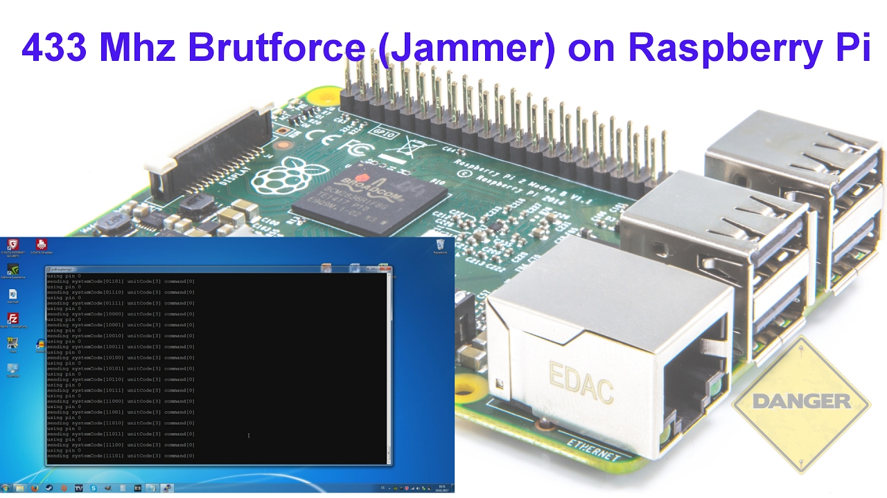 433 Mhz Bruteforce (Jammer) on Raspberry Pi (deutsch)