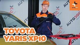 Sådan udskifter du viskerblade foran på TOYOTA YARIS XP10 GUIDE | AUTODOC