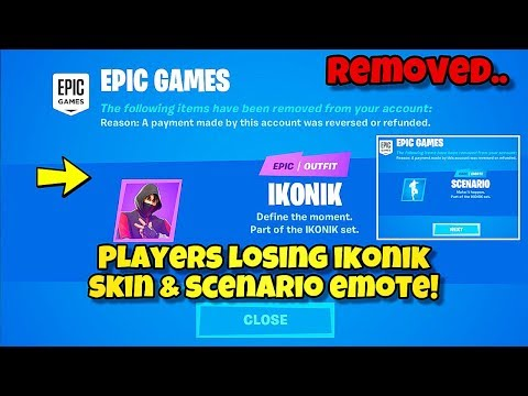 *NEW* Fortnite IKONIK SKIN & SCENARIO EMOTE REMOVED! Fortnite BR (Why Some Players Are Losing Skins)