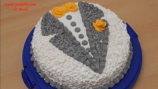 Торт Пиджак | Торт с белковым заварным кремом | Украшение тортов(, 2016-11-07T18:35:09.000Z)