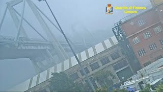 New video of Genoa bridge collapse released by Italian police