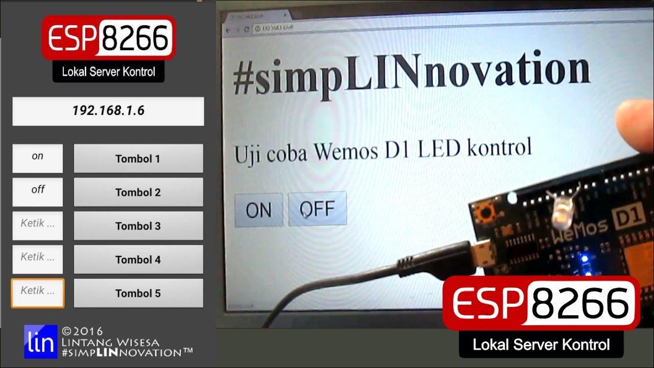ESP8266 Web Server LED Control Wemos D1 & Its Android App #simpLINnovation