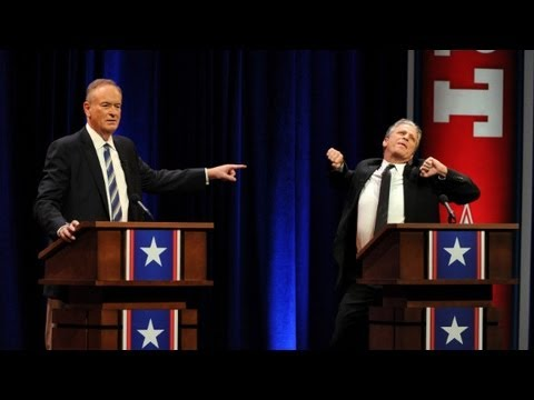 Stewart battles O'Reilly in mock debate