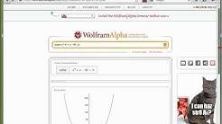 02 Wolfram Alpha, Teil 1, Plots, Gleichungen, Ungleichungen, Ableitungen, Integrale