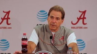 Nick Saban never realized it was election day