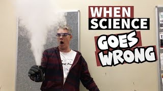 Science Teacher Surprised by Explosive Chemical Reaction