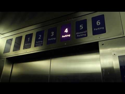 Vintage 1971 Westinghouse Selectomatic Traction Jannus Elevators, Tampa Int'l Airport, Tampa, FL