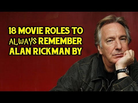 18 Movie Roles To Always Remember Alan Rickman By