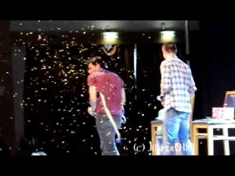 Jibcon 4 Matt Cohen & Brock Kelly Panel  Brock doing the Who Dat chant  New Orleans Saints