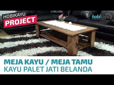 Buat Sendiri Meja Kayu Palet / Meja Tamu / Meja Kopi (Coffee Table)
