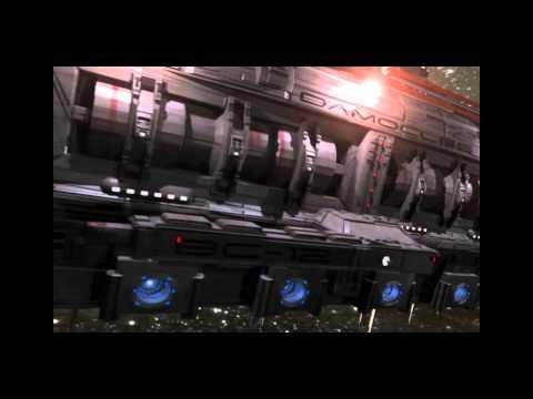 Terran Spaceship fleet CDF - Destroyer, battlecruiser and Heavy cruiser