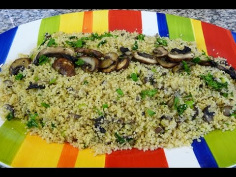 Receta Cuscus con Champiñones, facil y saludable. how to