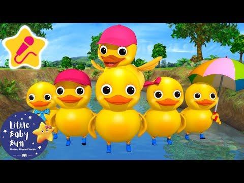 Six Little Ducks | KARAOKE for Kids + More Nursery Rhymes & Kids Songs | Little Baby Bum