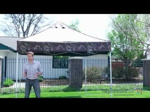 E-Z Up 10 x 10 Eclipse II Steel Shelter Canopy with Wind Vent Top - Camo - Product Review Video