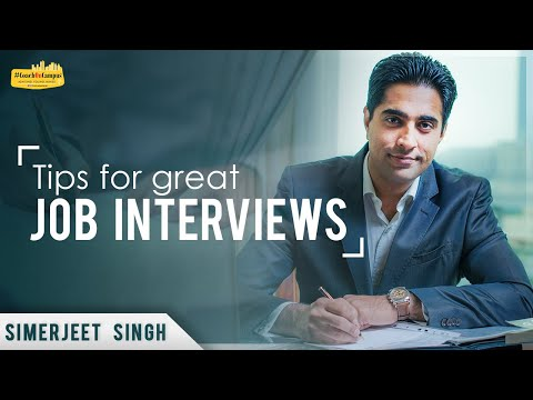 Tips for Great Job Interviews | Interview Tips for Hotel Management Students |Tell me about yourself