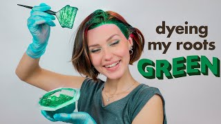 Dyeing my roots BRIGHT GREEN