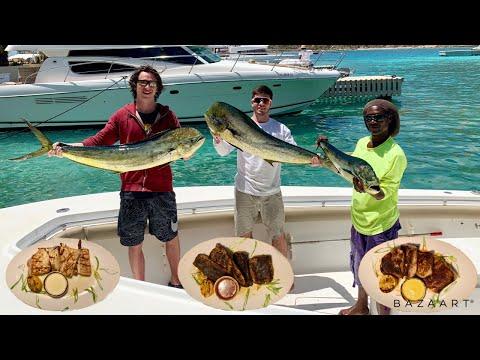Mahi Mahi Catch Clean Cook In British Virgin Islands