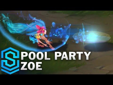 Pool Party Zoe Skin Spotlight - League of Legends
