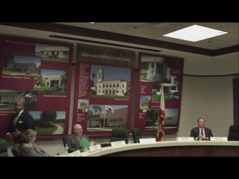 Monrovia Unified School District Board of Education | January 24, 2018 | Regular Meeting
