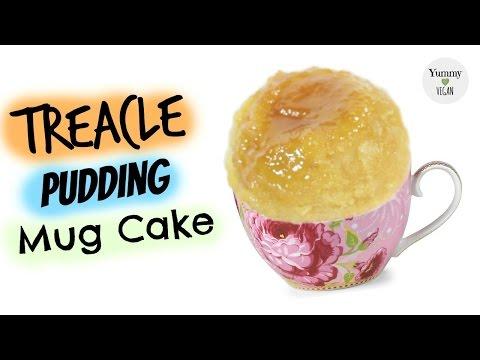 Treacle Pudding Mug Cake | YUMMY VEGAN