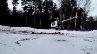 Полет на вертолете Ехес-162 на висении...