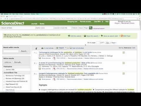 How to create email alerts for new articles on a topic (ScienceDirect)
