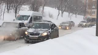 Снегопад в Саратове