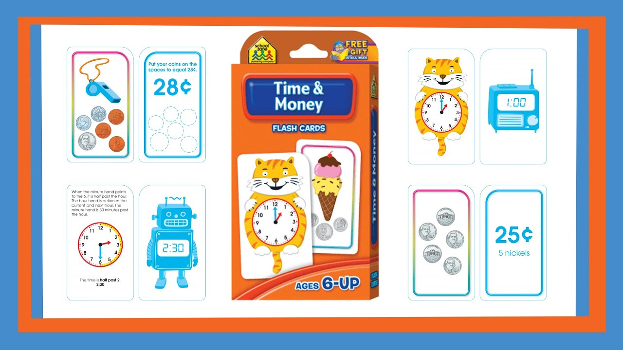 worksheet Time Flash Cards time money flash cards by school zone szp04016 youtube szp04016