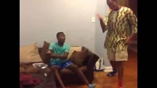 Black man watching porn