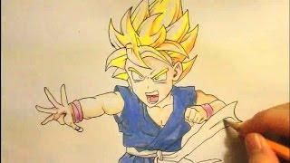 How To Draw Kid Goku|ssj 2|3|4|Easy|Step By Step|gt|Super Saiyan|DBZ