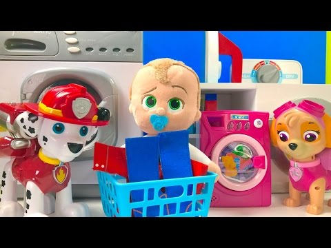 Thumbnail: Best Learning Colors Video - Paw Patrol & Boss Baby Laundry Washing Machine
