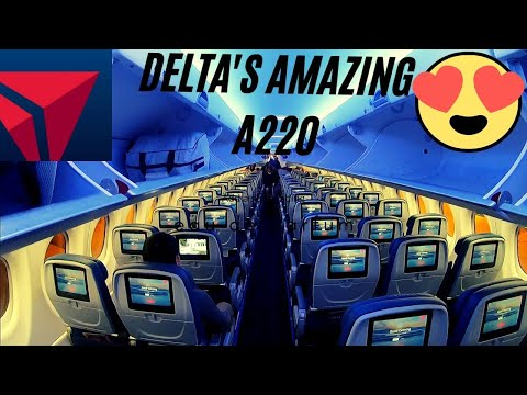 DELTA AIRLINES - AMAZING NEW AIRBUS A220 - Seattle (SEA) to Denver (DEN)